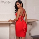 Red Strapy Sleeveless Mini Backless Bandage Dress PF19179-Red